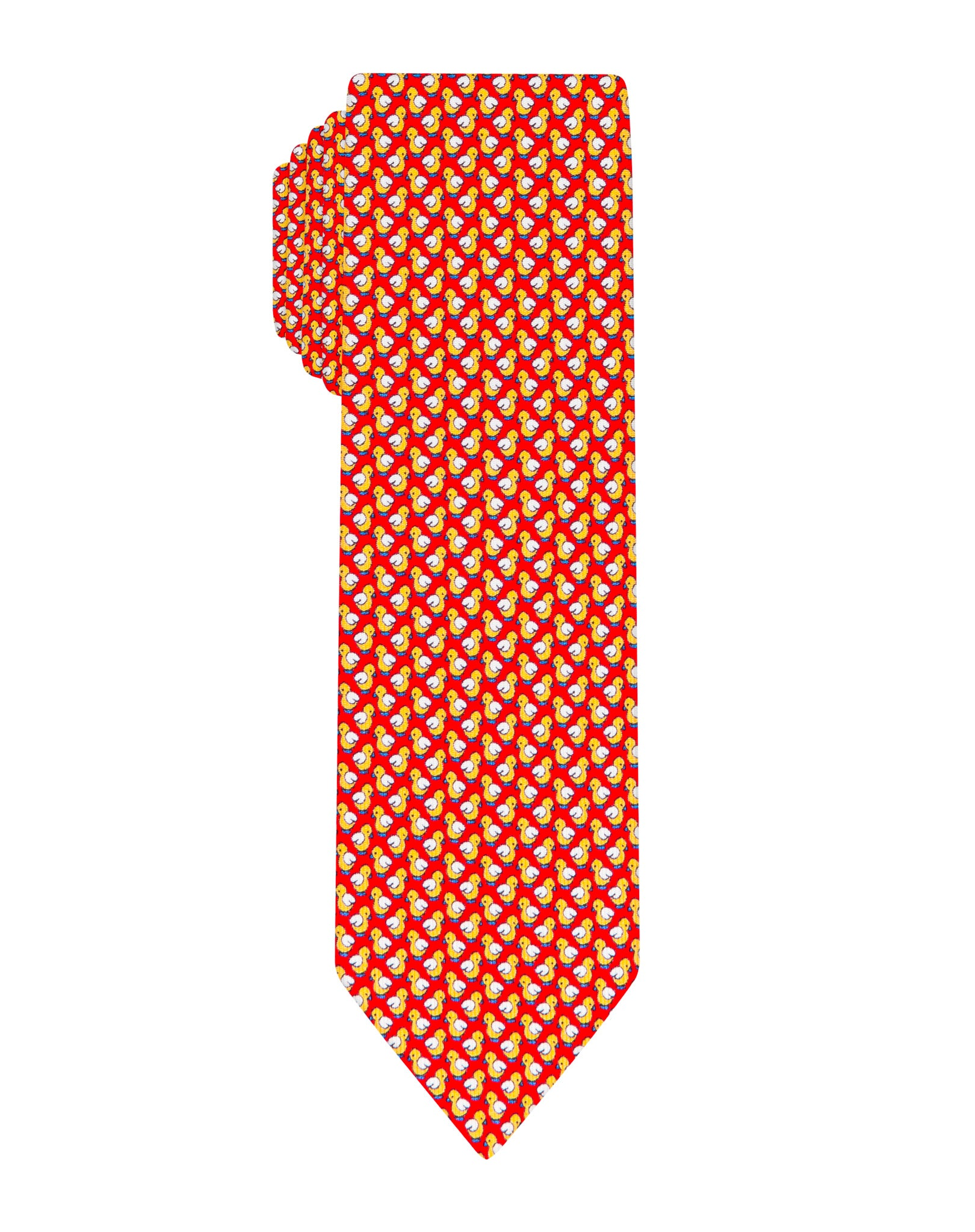 red Duck printed Boys tie
