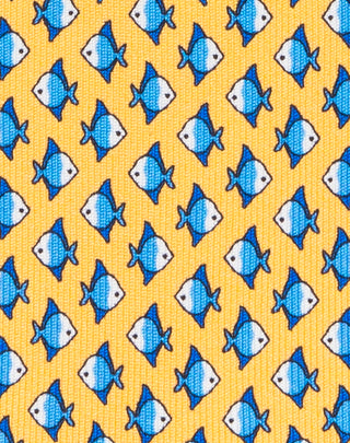 YELLOW Fish printed Boys tie