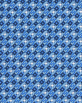 Blue Woven Micro Textured Tie