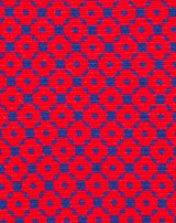Red Printed Diamond Neat