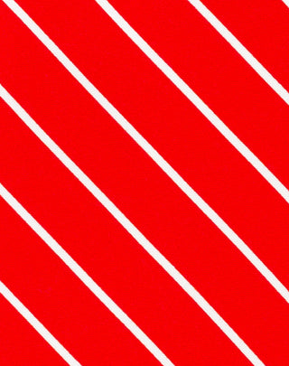 Red Striped Printed Satin