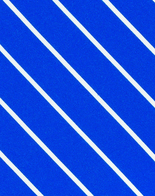 Blue Striped Printed Satin
