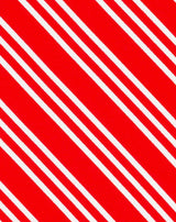 Red Double Stripe Printed Satin