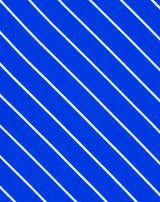 Blue Shadow Stripe Printed Satin
