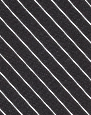 Black Shadow Stripe Printed Satin