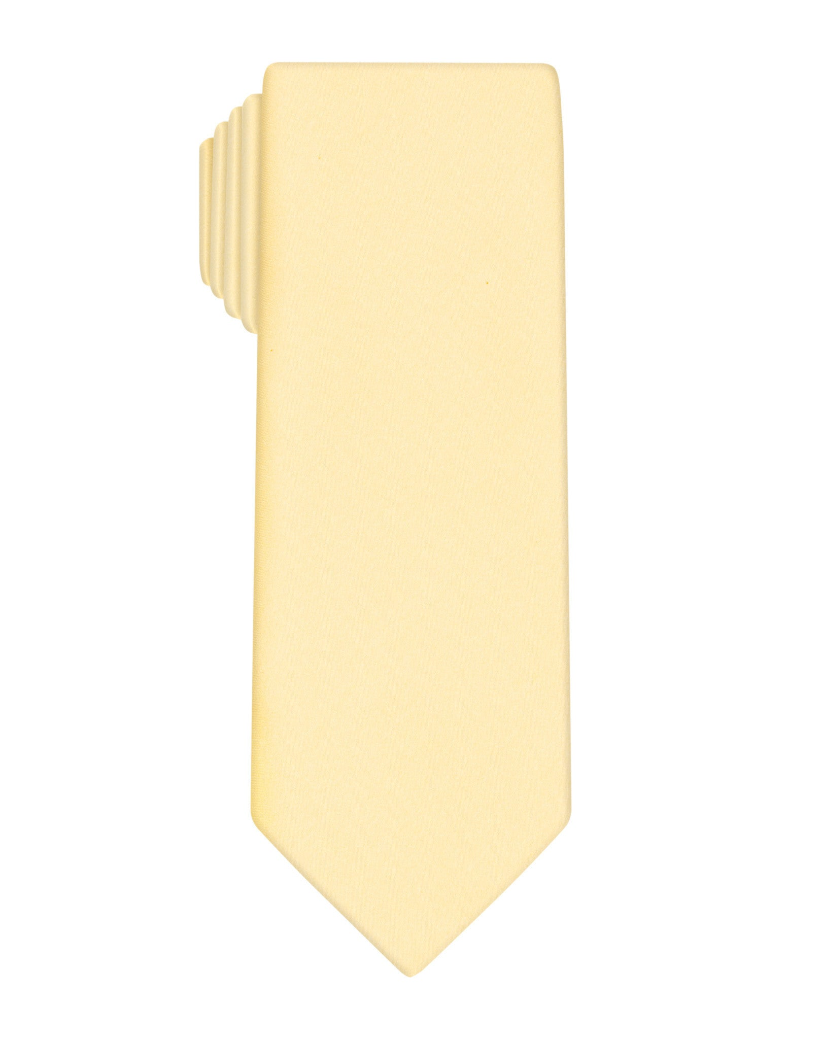 Yellow Handprinted Satin Tie