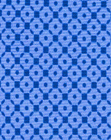 Blue Printed Diamond Neat