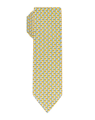 Yellow Duck printed Boys tie