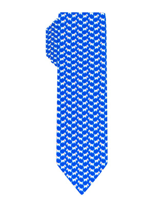 Blue doggy printed Boys tie