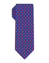 Navy/Red Printed Neat Tie