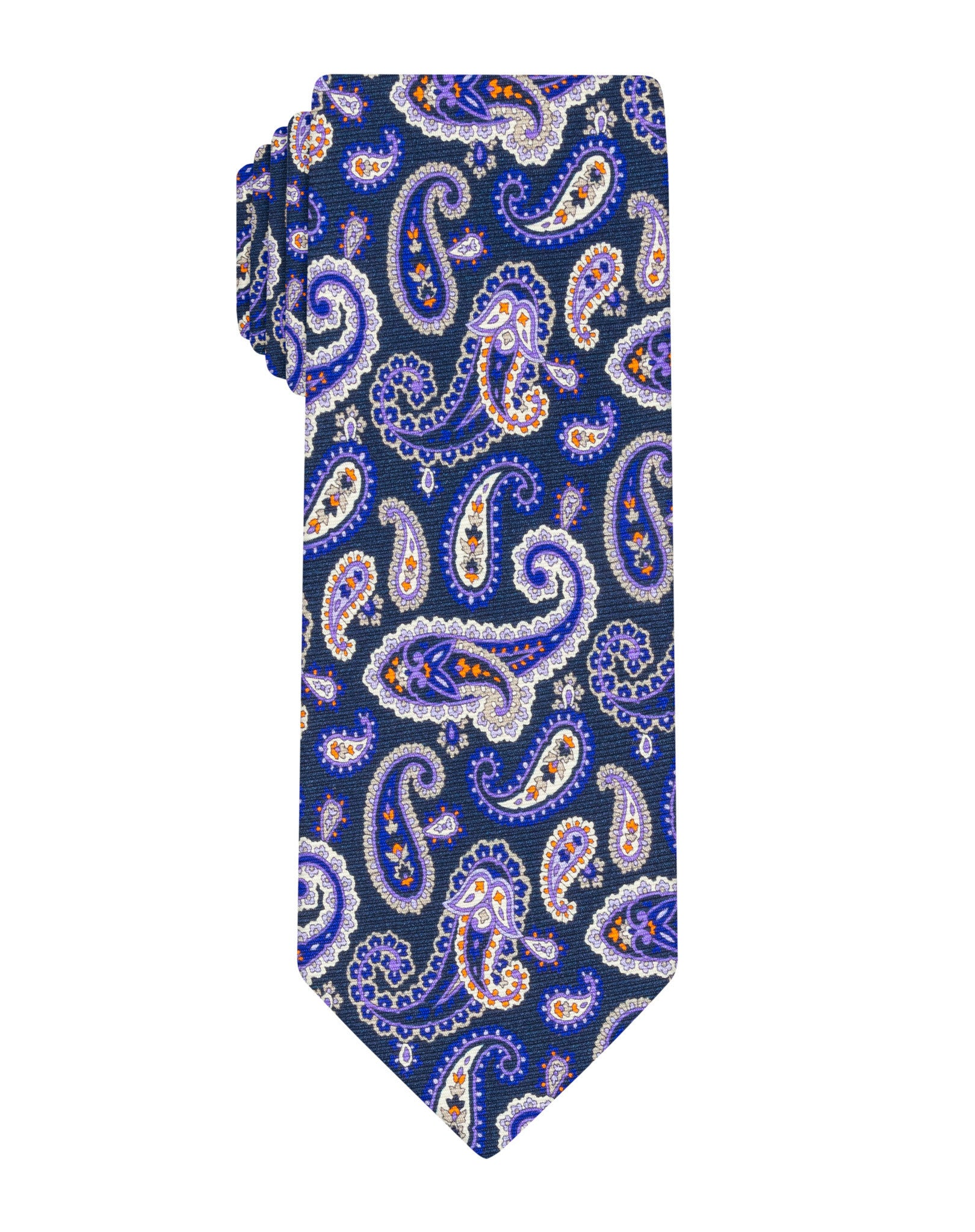 Purple Printed Paisley Tie