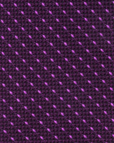 Purple Woven Grenadine Dash Tie