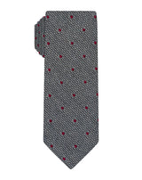 Grey Wool Grenadine Polka Dot Tie