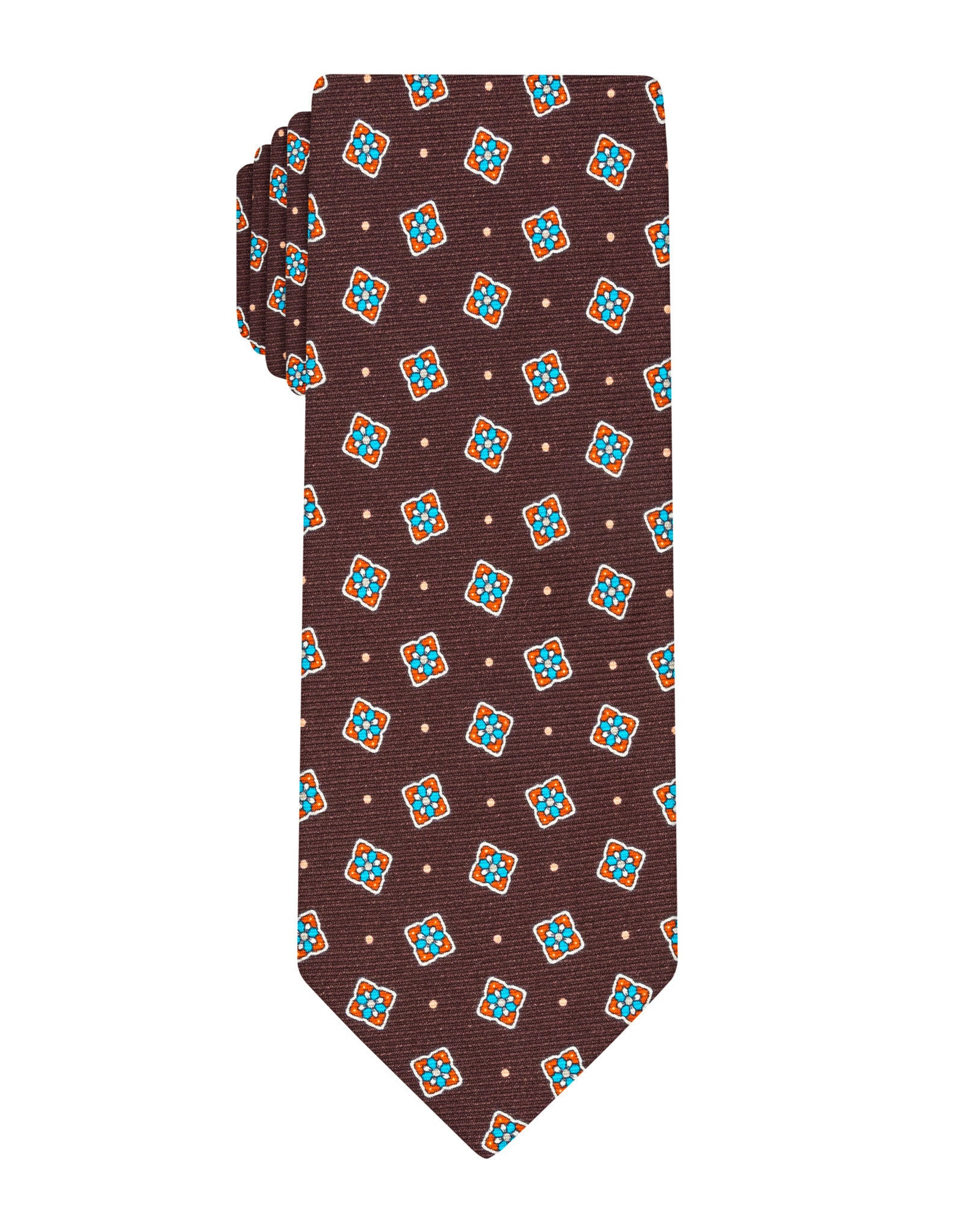 Brown Printed Patch Tie