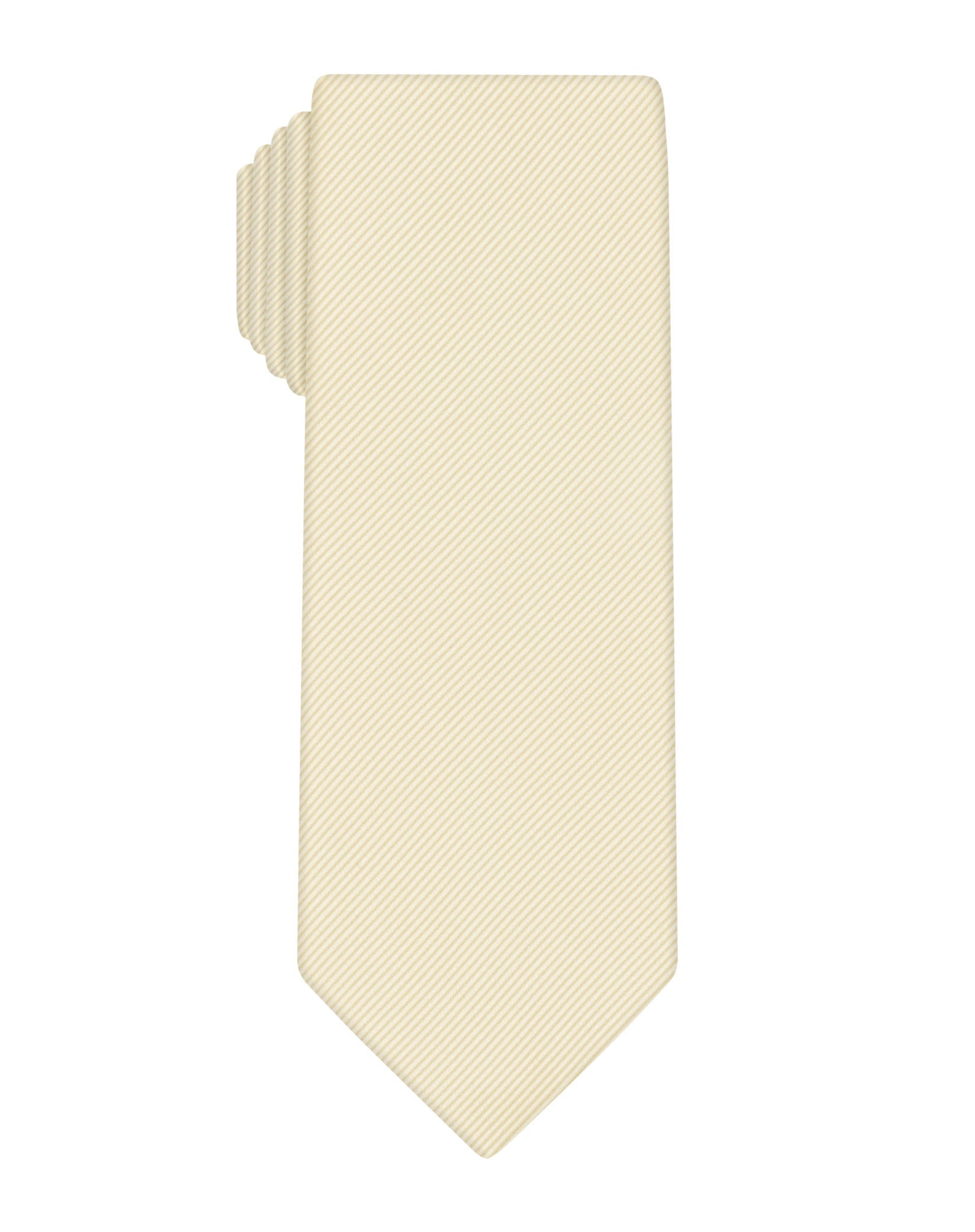 Champagne Solid Heavy Twill Tie