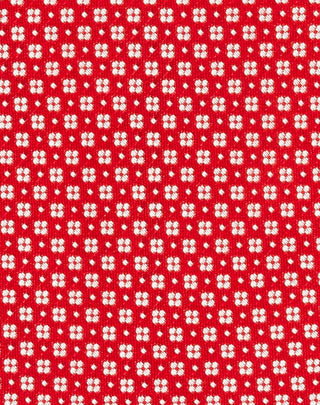 Red Woven Floret Tie