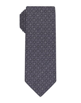 Grey Printed Hawaiian Tie