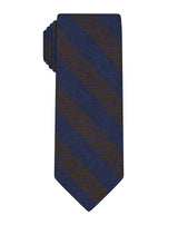 Brown Cashmere Stripe Tie
