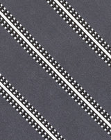 Grey Satin Stripe Tie