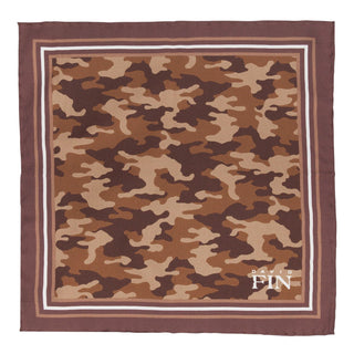 Brown Camo Pocket Square