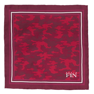 Red Camo Pocket Square