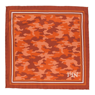 Orange Camo Pocket Square