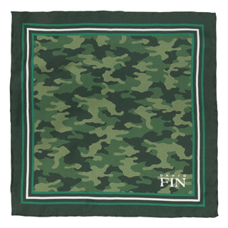 Green Camo Pocket Square