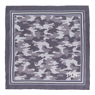 Grey Camo Pocket Square