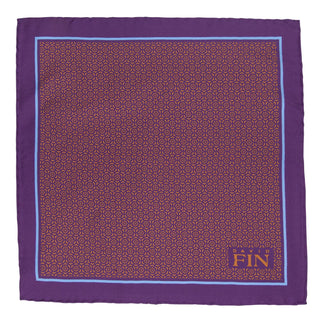 Purple Geometric Floral Pocket Square