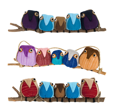 Owls - Family of 5 - 3/pk