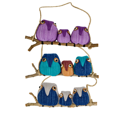 Owls - Family of 3 - 3/pk