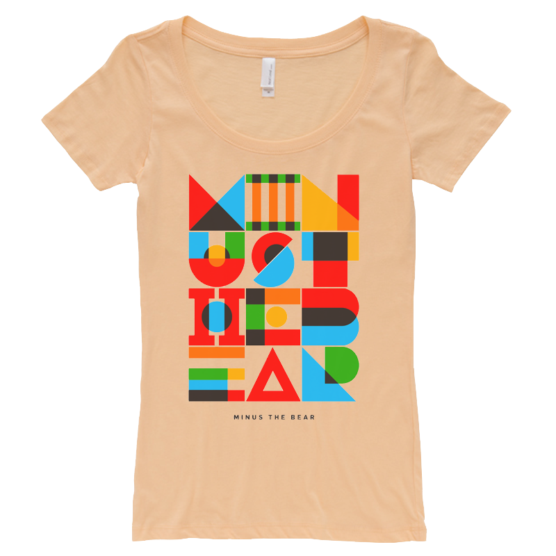 Geometric Warm Girl's Scoopneck Tee