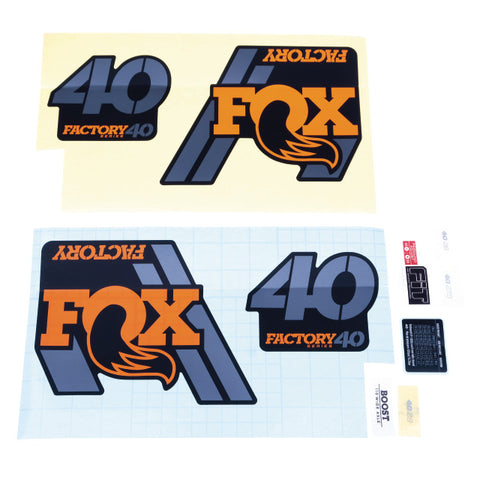 FOX 18 40 F-S orange Logo mat black