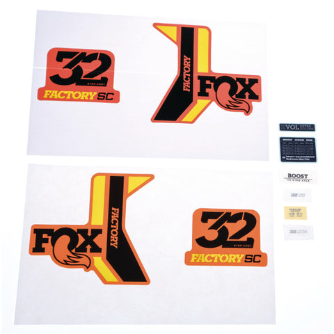 FOX Decal 18 32 SC F-S black/yellow shiny orange background