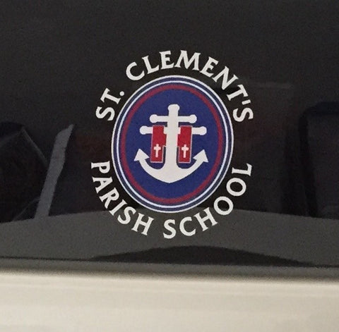 School Crest Window Decal