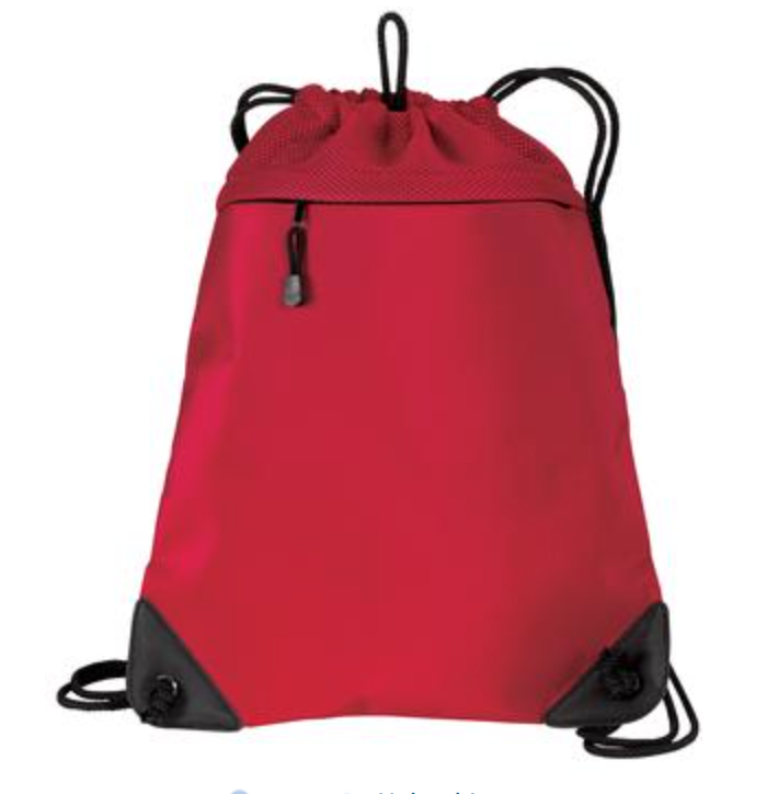 PE Backpack *Improved Cinch Pack with Mesh Trim*