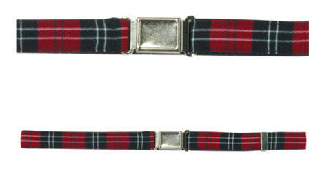 PLAID Belt w/military style buckle