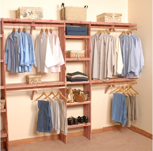 Deluxe Solid Wall Closet Organization Kit 8 Northern