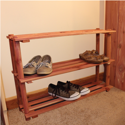Cedar 3 Tier Shoe Rack - Northern Kentucky Cedar
