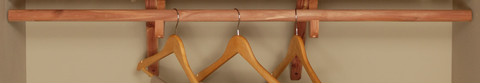 Additional Shelf - Cedar Closet Rod Kit