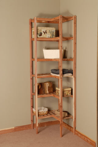 Basic Ventilated Cedar Corner Cubby Closet Organizer - Northern Kentucky Cedar
