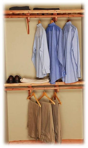 Solid Closet Hanging Kit - Northern Kentucky Cedar