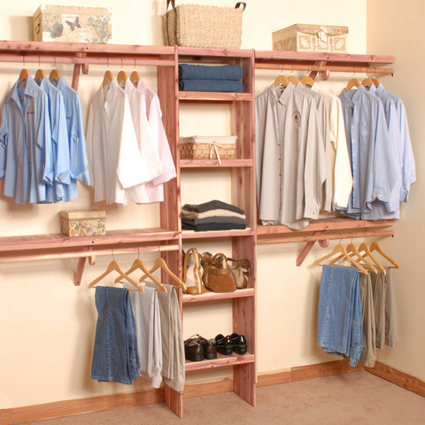 Deluxe Solid Wall Closet Organization Kit 6'