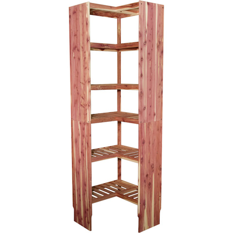 "Deluxe Ventilated Corner Cubby 24"" (24.75"")"