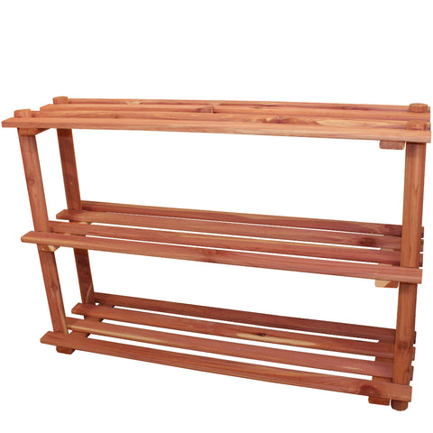 Cedar 3 Tier Shoe Rack