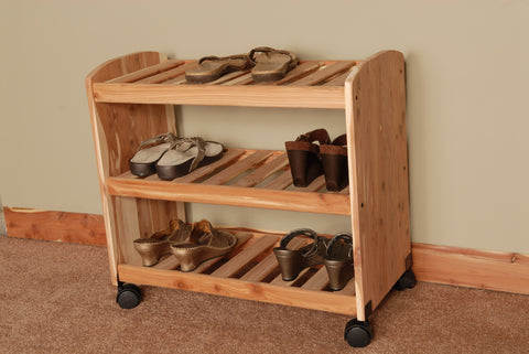 "Deluxe Cedar Shoe Rack 24"" - Northern Kentucky Cedar"