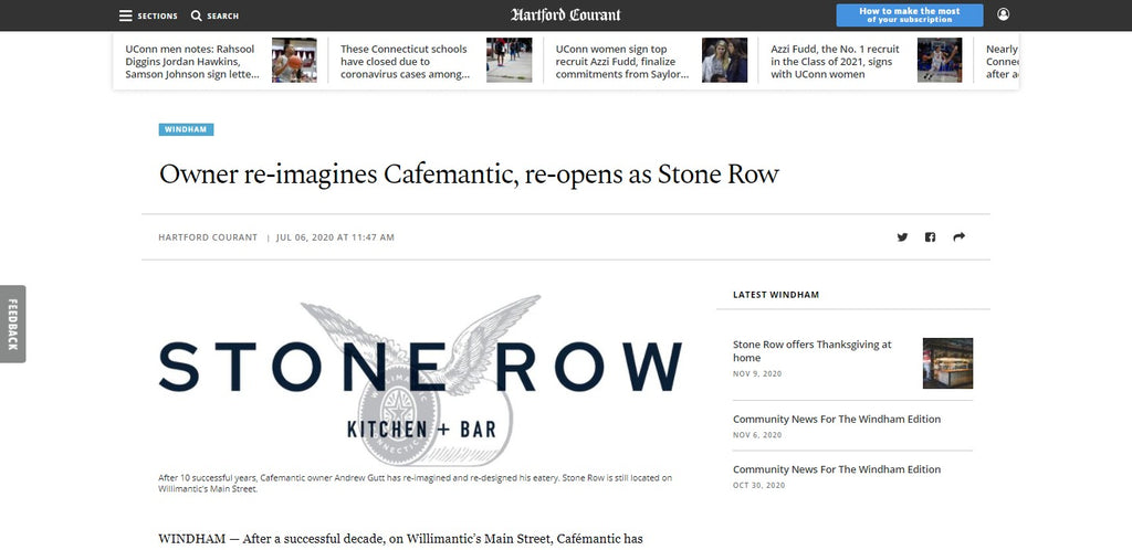 Owner re-imagines Cafemantic, re-opens as Stone Row