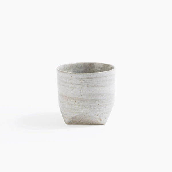 Grey Faceted Rock Teacup