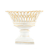 Vintage White and Gold Candy Dish