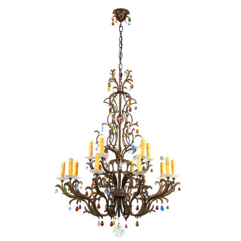 Pair of Crystal Chandeliers